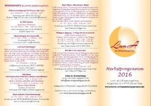 Luna Herbstprogramm 2016